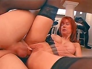Hot Cougar Fucked In Butt And Satiated With A Wooden Spoon