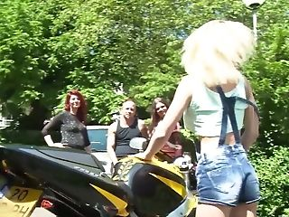 Tramp Chessie Kay And Her Crazy Gfs Are Testing Romp Fucktoys Outdoor
