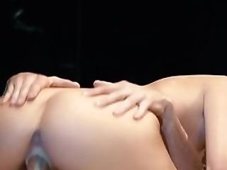 Jizzcovered Honey Railing Fuckpole In Closeup