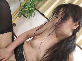 Japanese Dark Haired Blowlerina Morita Kurumi Gets Her Shaggy Twat Fucked