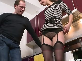 Horny Housewife Valeria Jones Gets Her Bunghole And Twat Fucked In The Kitchen