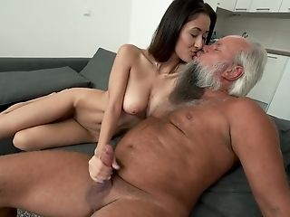 Darcia Lee Gets Decently Used By Bearded Grey Haired Old Man