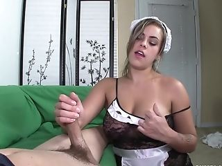 Big Natural Mammories And Culo Maid Gives Amazing Hand Jobs - Katie Cummings