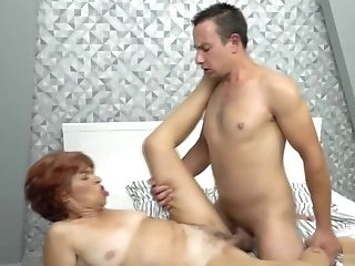 Stud Pleases A Fur Covered Matures Cunt