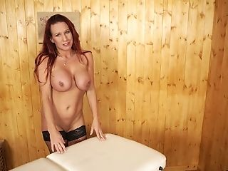 Suntanned Well-packed Faye Rampton Is Alone And Does Not Mind Displaying Breasts
