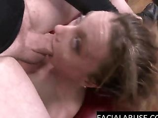 Skinny Cougar Does A Deep Moist Suck Off