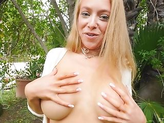 Dirty Blonde Honey Spreads Her Backside Cheeks To Flash Her Asshole
