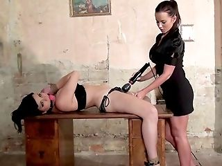 Restrained Whore Suffers Without Mercy Intercourse And Deep Frolicking