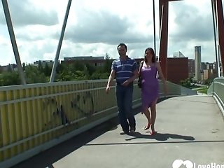 Old Biotch Is Fucked By Her Man Outdoors