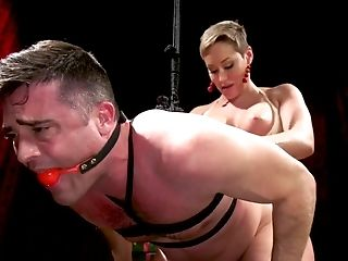 Femme Fatale Ryan Keely Puts On Strap On Dildo And Fucks Buttfuck Fuck Hole Of Enslaved Stud Lance Hart