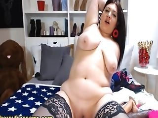 Big-chested Black-haired In Her Erotic Wish Webcam Flash