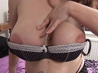 Curvy Matures Strips And Taunts You With Her Fun Bags And Old Cunt
