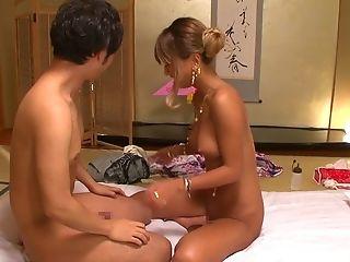 Stunning Woman Aika Gets To Rail A Big Stiff Dick Until He Cums