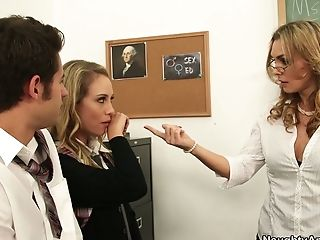 Filthy Matures Schoolteacher Tanya Tate Caught Charlee Monroe Sucking Weenie