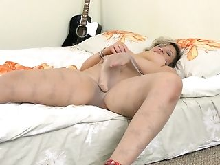 Dirty Matures Fuckslut Angel Babe Pokes Her Cootchie With A Large Fake Penis