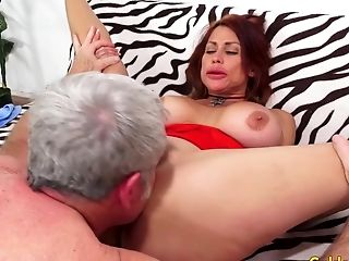 Big Tits Older Red-haired Sheila Marie Gets Her Vag Opened Up By A Grand-pa