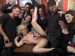 Public Indignity And Fucking With Blonde Servant Chick Silvia Rubi