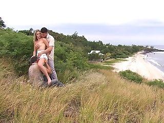 Katy Caro Crazy Gangabang On Nature