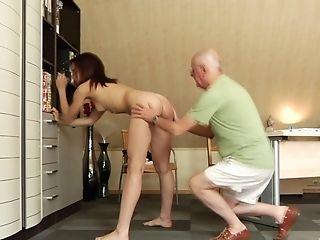 Older Gent Ruining Sexy Daniela's Pulsing Vulva Lips
