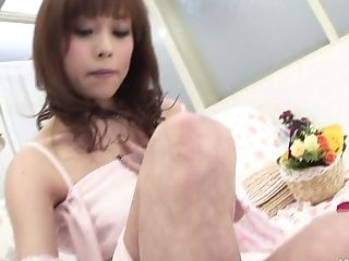 Adorable Dark-haired Beauty Miina Yoshihara Paws Her Moist Fuckbox