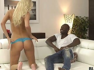 Bodacious Czech Blonde Karol Lilien Is Making Love With Her Black Admirer