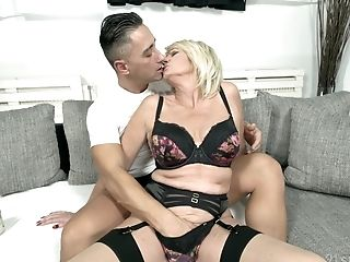 Big-chested Matures Blonde Granny Rosemary Gets Spunk From A Big Black Lollipop