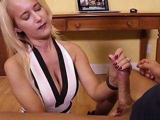 Matures Blonde Wifey On Her Knees Pleasing A Junior Neighbor