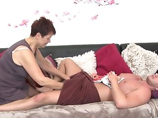 Brief Hair Matures Emmi Groans While Getting Fucked By A Junior Man